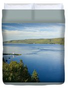 View Of Boulardarie Island From Seal Duvet Cover