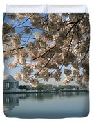 View Of Cherry Blossoms Duvet Cover