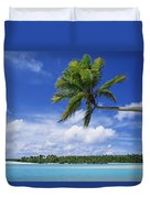 View Of Deserted Beach From Tapuae Tai Duvet Cover