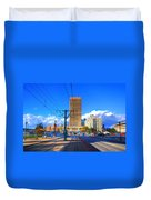 View Of Downtown Buffalo From The Tracks Duvet Cover