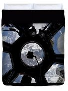 View Of Earth Through The Cupola Duvet Cover