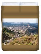 View Of Katra Township While On The Pilgrimage To The Vaishno Devi Shrine In Kashmir In India Duvet Cover