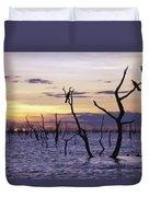 View Of Lake Kariba At Sunset Duvet Cover