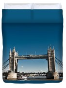 View Of London Bridge From The Thames Duvet Cover