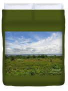 View Of Maine Bay Duvet Cover