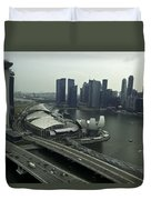 View Of Marina Bay Sands And Other Buildings From The Singapore  Duvet Cover
