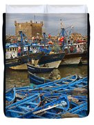 View Of Skala Du Port Duvet Cover