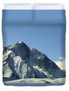 View Of Snow-covered Mountain Ridges Duvet Cover