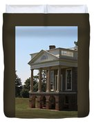 View Of South Portico At Poplar Forest Duvet Cover