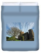 View Of St Mary Church And Clouds In Dover Castle Duvet Cover