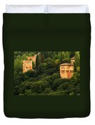 View Of The Alhambra In Spain Duvet Cover