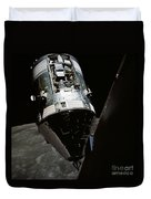 View Of The Apollo 17 Command Duvet Cover