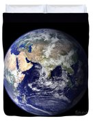 View Of The Earth From Space Showing Duvet Cover by Stocktrek Images