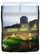 View Of The Four Courts And The Liffey Duvet Cover