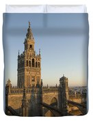 View Of The Giralda Tower Duvet Cover