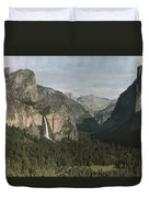 View Of The Mountain El Capitan Duvet Cover