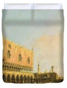 View Of The Piazzetta San Marco Looking South Duvet Cover