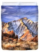 View Of The Sierras Duvet Cover