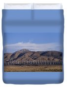 View Of Windmill Structures On A Wind Duvet Cover