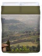 View Over The Tuscan Hills From San Gimignano Italy Duvet Cover