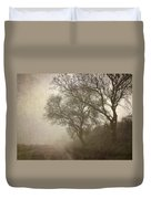 Vigilants Trees In The Misty Road Duvet Cover