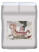 Viking Ship - 10th Century Duvet Cover