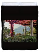 Villa Cipressi Pergola On Lake Como I Duvet Cover