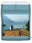 Villa Monastero Rooftop And Lake Como Duvet Cover