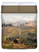 Villa On A Hill In Tuscany Duvet Cover