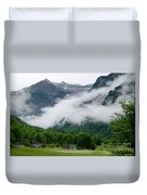 Village In The Alps Duvet Cover