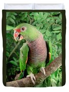Vinaceous-breasted Parrot Amazona Duvet Cover