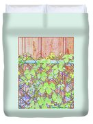 Vines On A Fence Duvet Cover