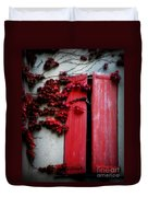 Vines On Red Shutters Duvet Cover