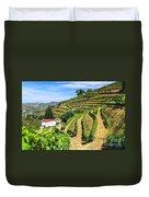 Vineyard Landscape Duvet Cover