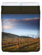 Vineyard Storm Duvet Cover by Mike  Dawson