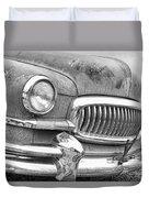 Vintage 1951 Nash Ambassador Front End 2 Bw Duvet Cover