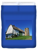 Vintage American Barn And Silo 1 Of 2 Duvet Cover