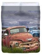 Vintage Auto Junk Yard Duvet Cover