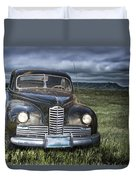 Vintage Auto On The Prairie Duvet Cover