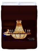 Vintage Ballroom Chandalier Fractal Duvet Cover