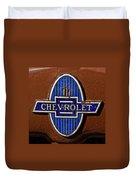 Vintage Chevrolet Emblem Duvet Cover