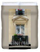 Vintage Cinema Sign Duvet Cover