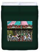Vintage Circus Carousel - Merry-go-round Duvet Cover