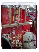 Vintage Fire Truck 2 Duvet Cover