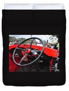 Vintage Ford - Steering Wheel... Controls - Circa 1920s Duvet Cover by Kaye Menner