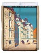 Vintage French Travel Poster Duvet Cover