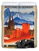 Vintage Germany Travel Poster Duvet Cover