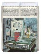 Vintage Gm Pontiac Duvet Cover