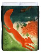 Vintage Hunting In The Ussr Travel Poster Duvet Cover