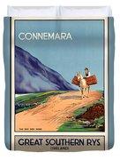 Vintage Ireland Travel Poster Duvet Cover